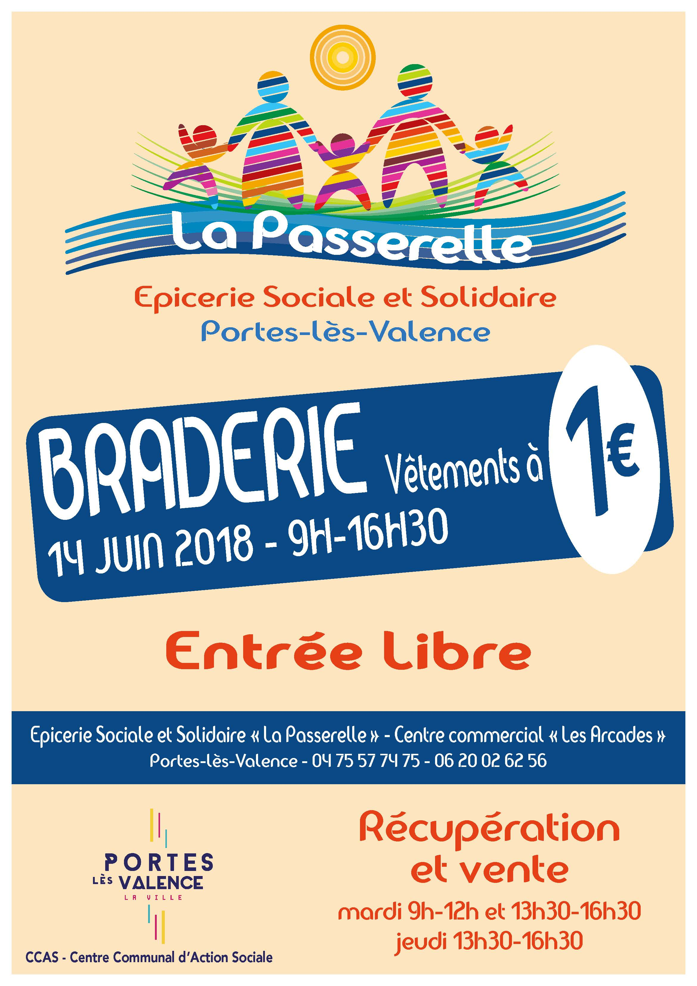 Affiche braderie solidaire